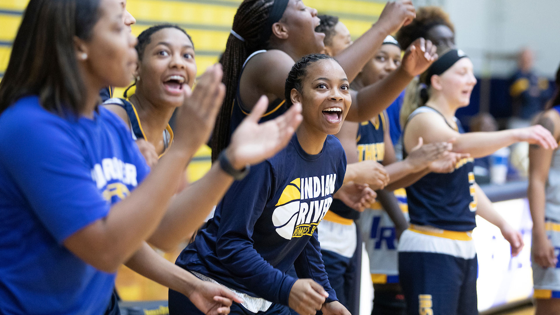 IRSC student athletes cheer their colleagues on during Basketball kickoff event held on the Main Campus in Fort Pierce Wednesday, October 23, 2019.