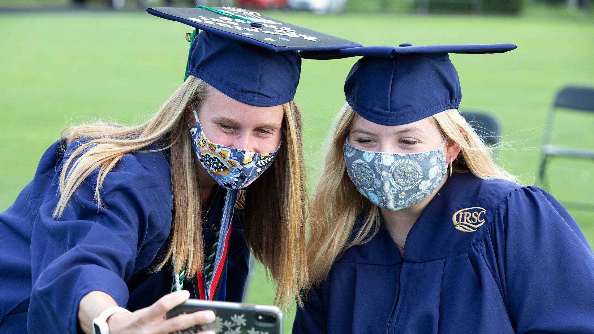 Students Taking Selfie at Commencement