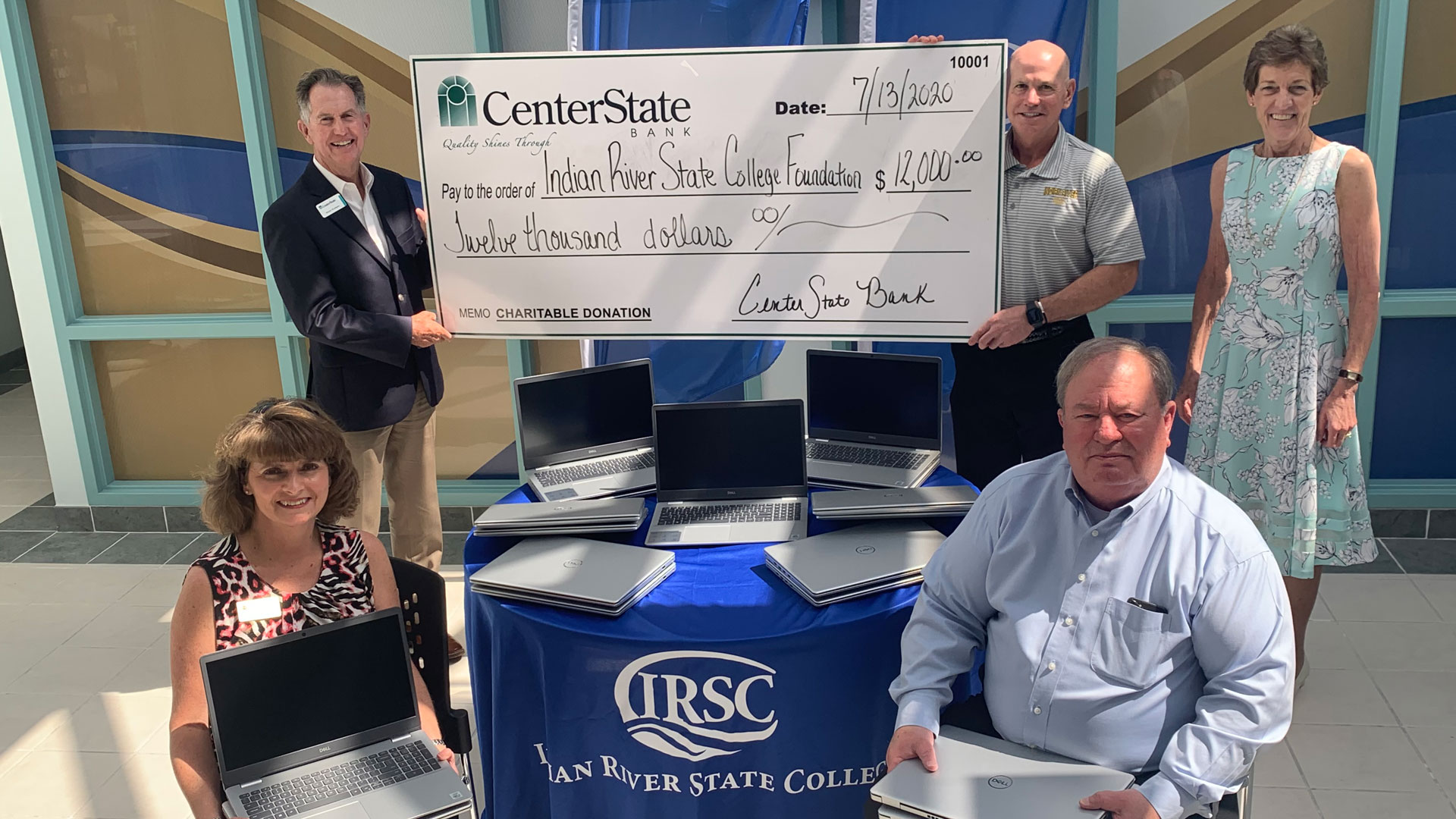 CenterState Bank representatives at the IRSC Dixon Hendry Campus