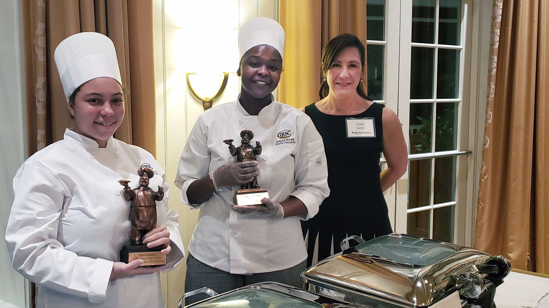 Left to Right: IRSC Chef Challenge winners, Brittany Tierney and Teana Albury with Rehmann Principals Cheri Jones, CPA.