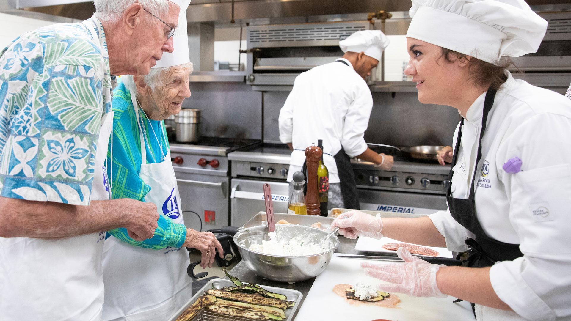 "Fielden Lifelong Learning members participate in ""An Afternoon Exploring Italian Cuisine with the Culinary Institute at IRSC."