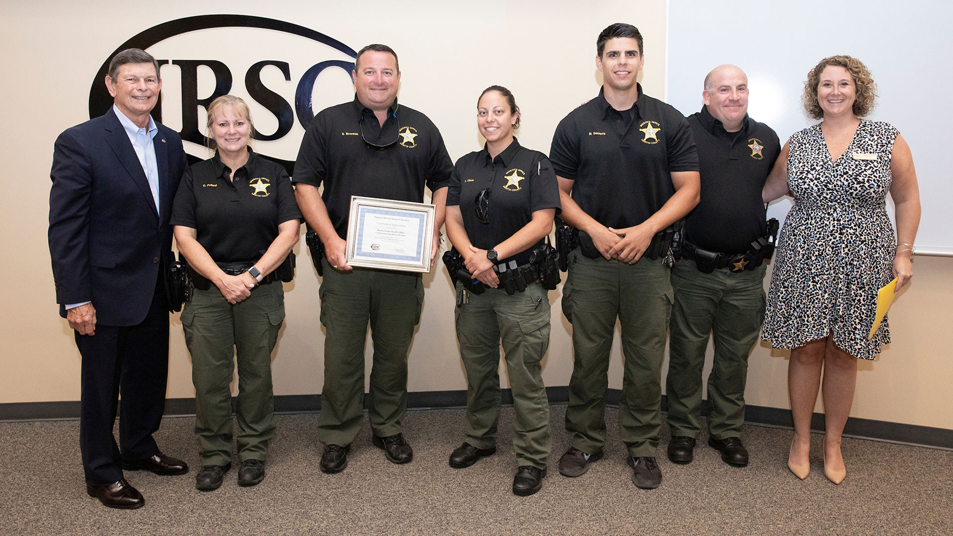 IRSC Recognizes Martin County Sheriff's Office Community Operations Division
