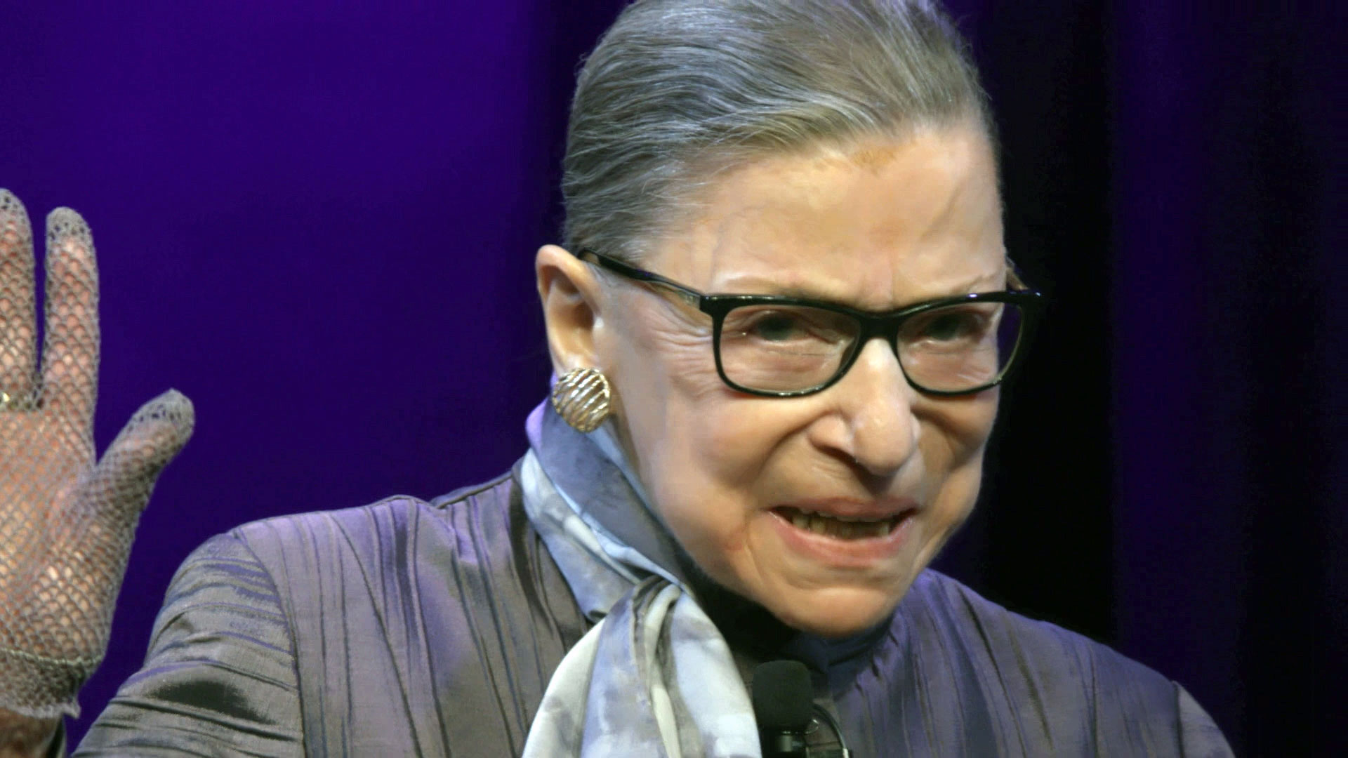 Associate Justice of the Supreme Court of the United States, Ruth Bader Ginsburg in RBG, a Magnolia Pictures release. Photo courtesy of Magnolia Pictures/ CNN Films.